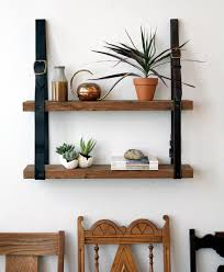 Wooden Shelves Diy by Diy Project Recycled Leather U0026 Wood Shelf U2013 Design Sponge