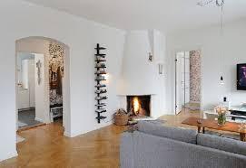 Apartment Minimalist White Apartment Living Room Decoration Using