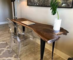 live edge computer desk live edge tables benches abp works