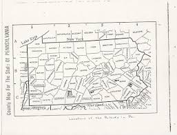 Pennsylvania Counties Map by John Ryland And Susanna Kissinger Live As Free People