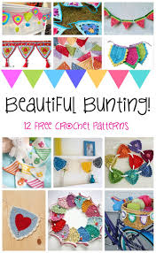 beautiful pattern fiber flux beautiful bunting 12 happy free crochet patterns