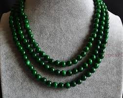 jade with gold necklace images Green jade necklace etsy jpg