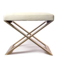 foot stool x base leather foot stool decor nyc store