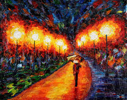 Afremov Quadri by Sightless Works U2013 Blind Artist Uses Touch To Paint A Colorful