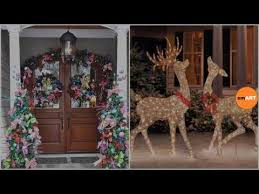 Christmas Decorations Outdoor Reindeer by Christmas Decorations Outdoor Outdoor Christmas Decorations