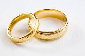 wedding ring gold 2 gold wedding rings centered marriage