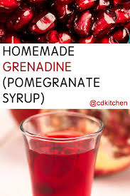 homemade grenadine pomegranate syrup recipe from cdkitchen