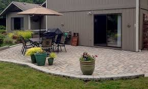 Paver Patios Installed In The Concrete And Paver Patio Installation In Olympia And Tacoma Puget