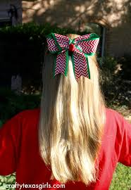 christmas hair bows crafty diy big christmas hair bow