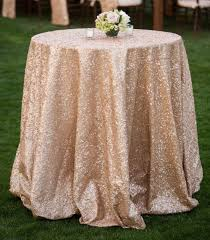 Christmas Table Cloths by Shinybeauty 120inch Round Champagne Sequin Table Cloth Cake Table