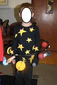 solar system space halloween costume made from styrofoam balls