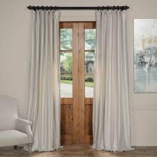 grey silk curtains amazon com