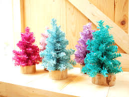 small colorful tree set of 5 on luulla