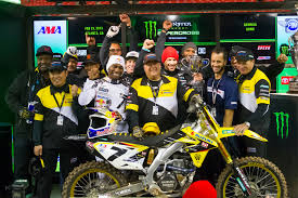 motocross news james stewart yoshimura suzuki u0027s james stewart dominates atlanta supercross