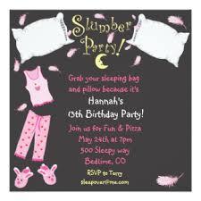 slumber party invitations u0026 announcements zazzle