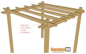 simple plans simple diy pergola plans construct101