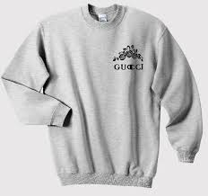 gucci rose sweatshirt on the hunt