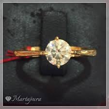 model cincin berlian mata satu toko permata online martapura cib336 cincin berlian mata satu