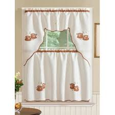 Coffee Themed Curtains Coffee Themed Kitchen Curtains Wayfair