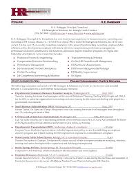 Resume Samples Hr Executive by Sample Resume Of Hr Manager