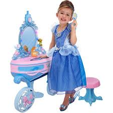 Disney Princess Vanity And Stool Disney Princess Enchanted Cinderella Vanity Walmart Com