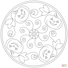 halloween mandala coloring page free printable coloring pages