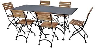 Outdoor Folding Tables French Bistro 32 X 72 Inch Large Rectangular Steel Outdoor Folding