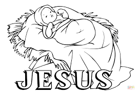 jesus in the manger coloring page free christian coloring pages for kids and young children level
