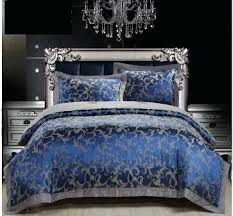 Jacquard Bedding Sets Blue Bedding Sets Happyhippy Co
