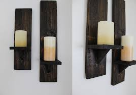 Candle Sconce Pallet Candle Sconces The Diy Life
