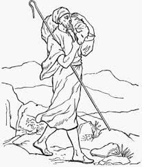 jesus the good shepherd coloring pages catholic faith education new testament coloring pages