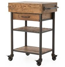 Kitchen Islands And Carts Kershaw Rustic Chunky Reclaimed Wood Iron Single Drawer Kitchen