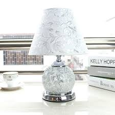 Silver Nightstand Lamps Table Lamp Silver Table Lamps With Black Shades Glass White