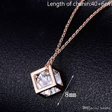 necklace zirconia images Wholesale white gold plated cube square cubic zirconia diamond jpg