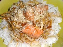 soja cuisine recettes recette sauté saumon gingembre pousses de soja cuisinez sauté