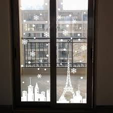 snowflake city tower stores window stickers glass