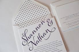 polka dot wedding invitations real wedding shannon and nathan purple polka dot wedding