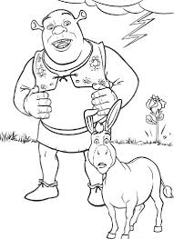 free coloring pages shrek coloring