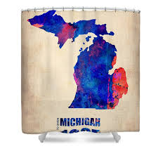 Of Michigan Curtains State Of Michigan Shower Curtains America