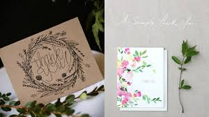 5 best designs and trends of thank you cards 2016