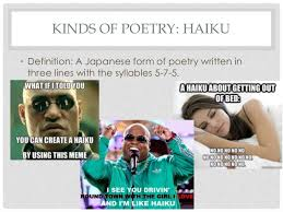 Poetry Meme - poetry terms presentation with memes and images