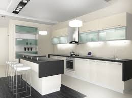 Modern Kitchens With White Cabinets Modern White And Black Kitchen Kitchen And Decor