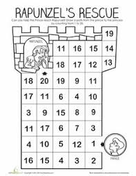 rapunzel u0027s number maze maze numbers and for kids