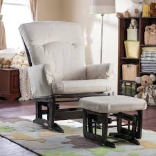 Modern Rocking Chair Nursery Dutailier Modern Platinum Glider And Ottoman Espresso U0026 Light