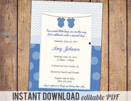 themes twin baby boy baby shower invitations plus twin boys baby