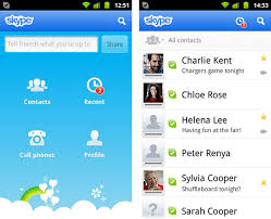 most recent android update new skype android v2 1 adds to most phones update