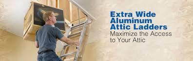 werner ah series universal aluminum attic ladders