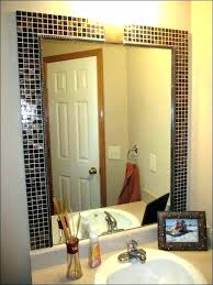 Large Framed Bathroom Wall Mirrors Large Framed Mirror For Bathroom Kakteenwelt Info