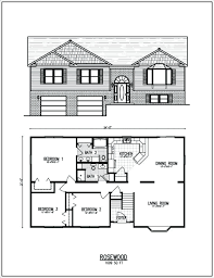 bi level house plans raised ranch house plans a typical raised ranch floor plan with a