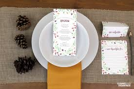 thanksgiving menu printables